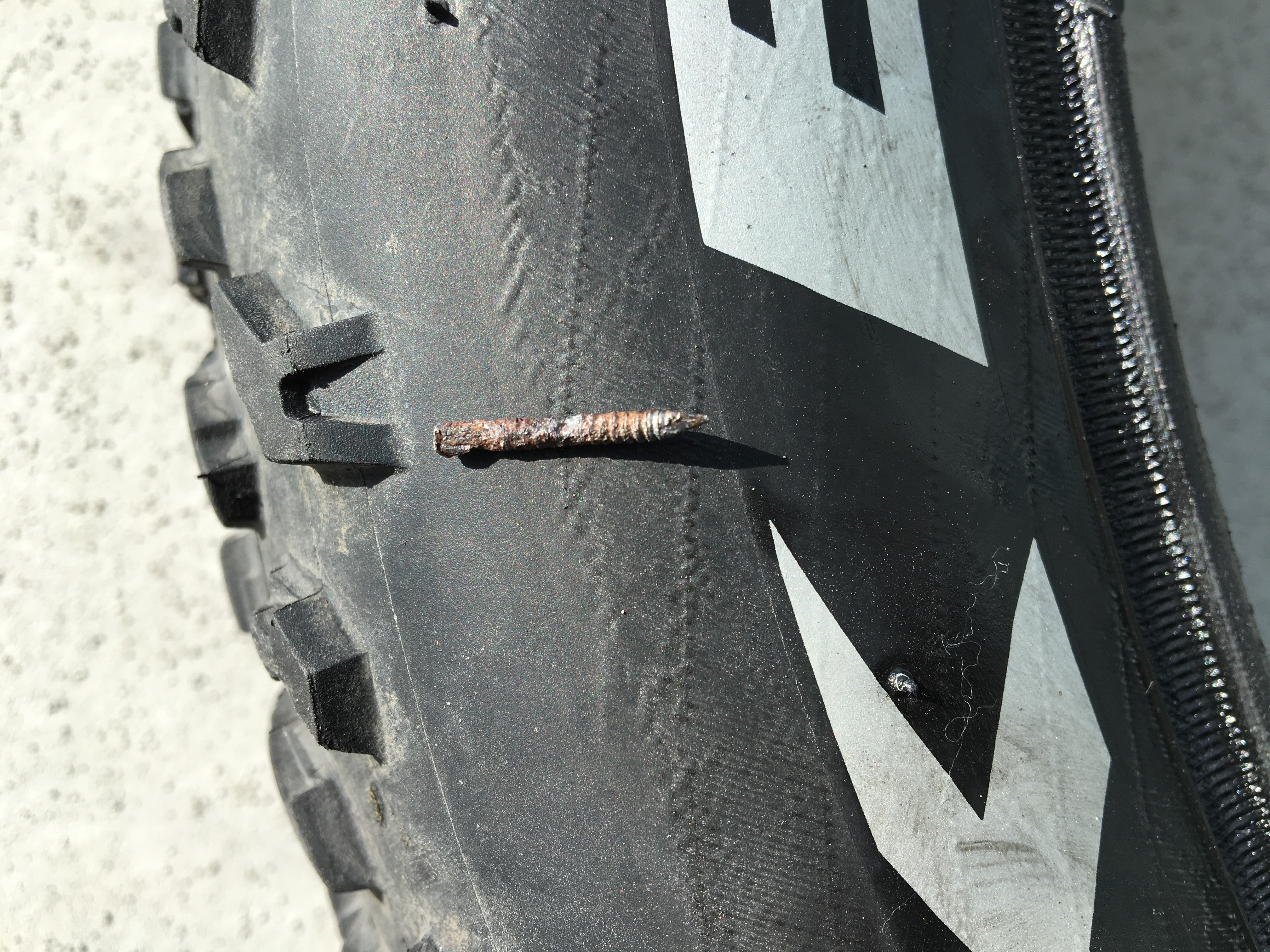 Tiny nail on Mariner fat tire (Replace or Patch?) | Electric Bike ...