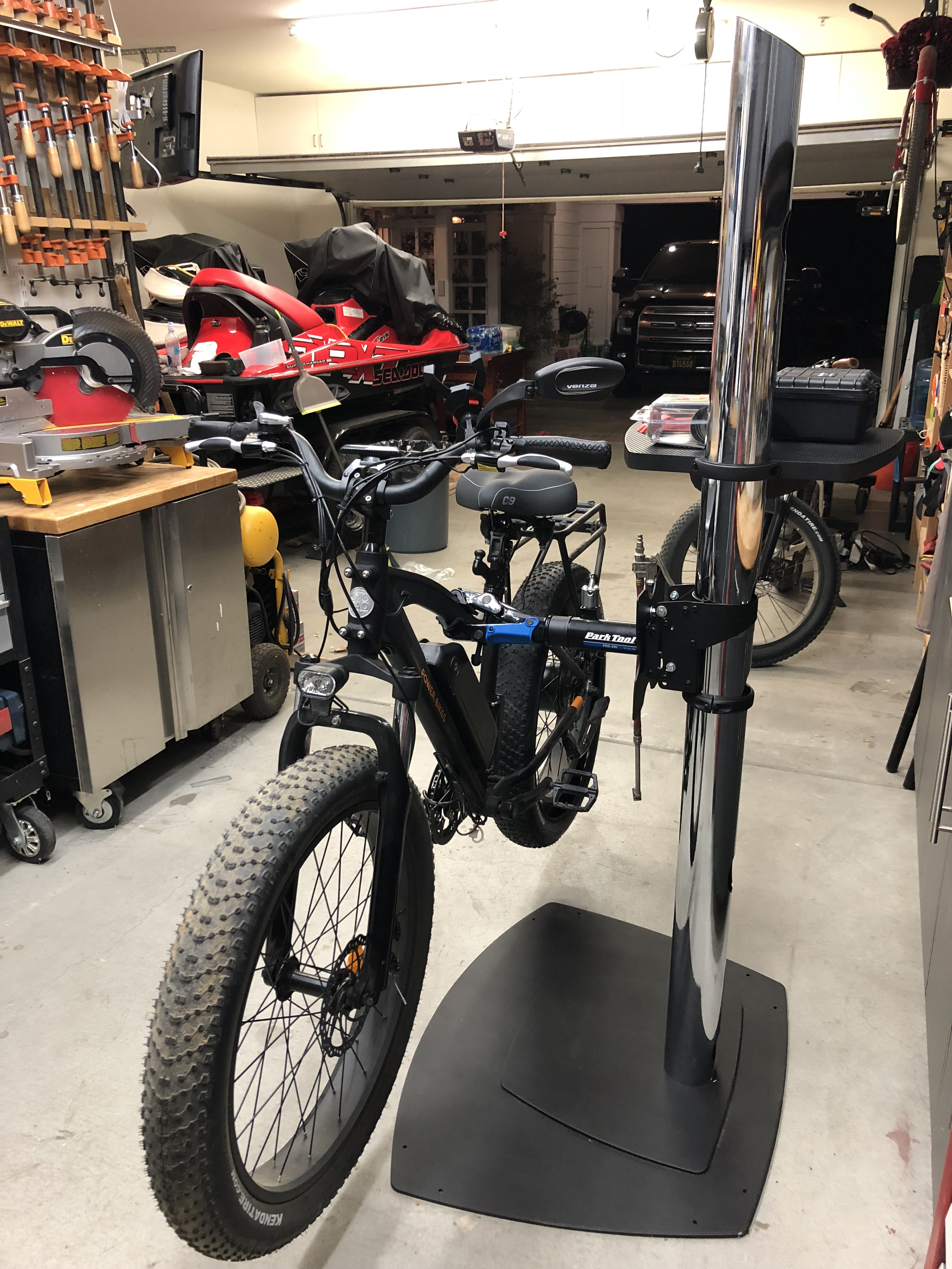 Rad Rover Bike Repair Stand Made from a TV Stand | Electric