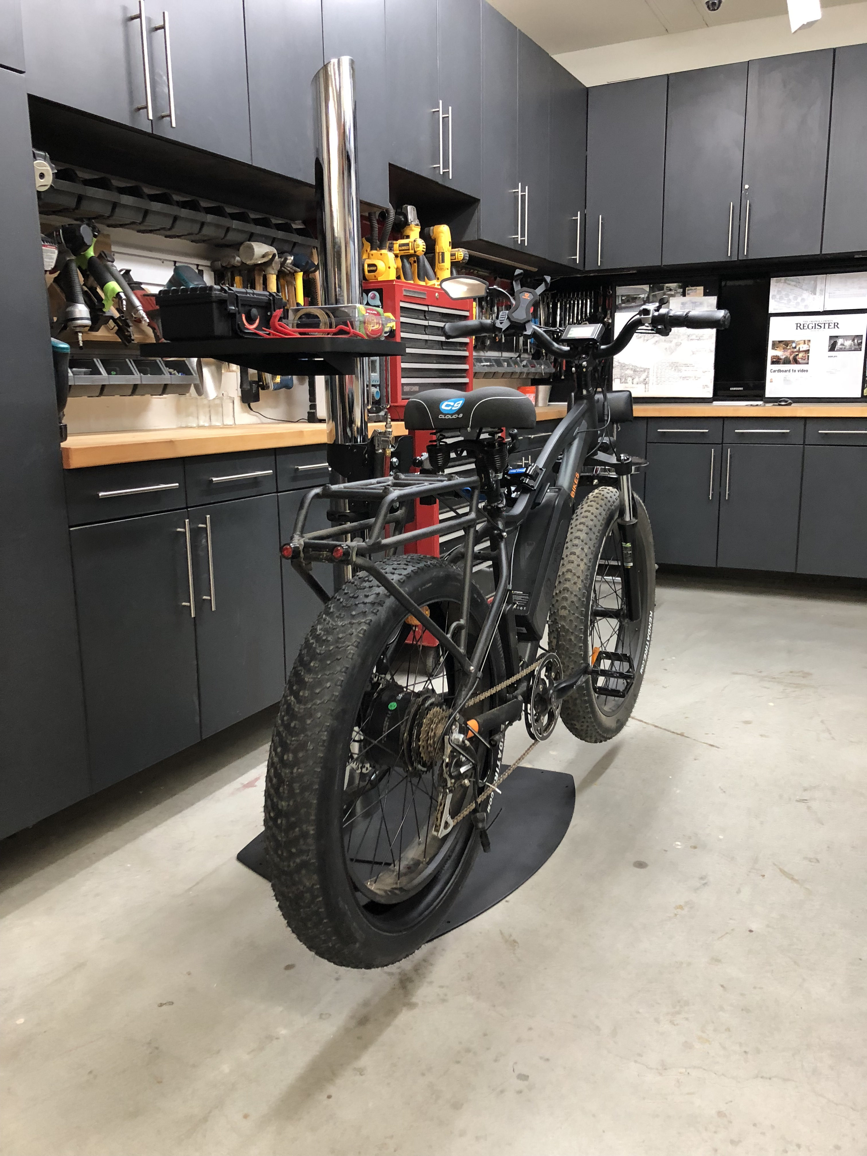 Rad Rover Bike Repair Stand Made from a TV Stand | Electric Bike