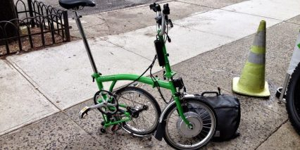 Electric Brompton Partially Folded