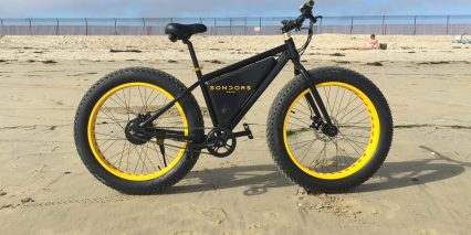 Sondors Electric Bike At The Beach