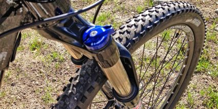 2014 Izip Peak Electric Mountain Bike Suspension Lockout