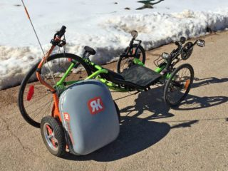 2015 Ridekick Power Trailer With Catrike Recumbent