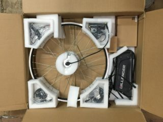 Dillenger 350w Geared Electric Bike Kit Unboxing Shot