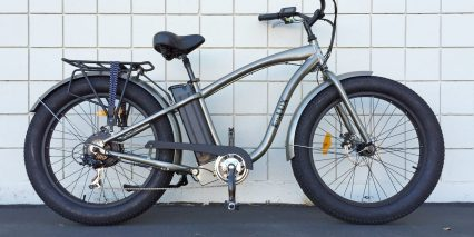 E Lux All Trac Electric Fat Tire Cruiser Bicycle