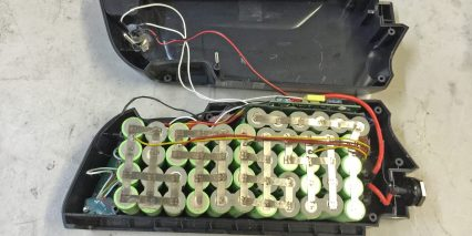 E Rad 48 Volt Battery Pack Inside View Top