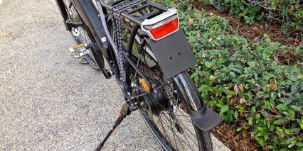 Easy Motion Nitro City Rear Rack License Plate Holder