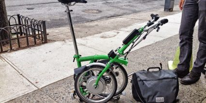 Electric Brompton Bag Removed