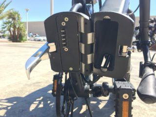 Enzo Ebikes Folding Electric Bike Battery Compartment In Frame