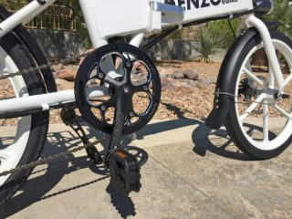 Enzo Ebikes Folding Electric Bike Chainring Folding Pedals