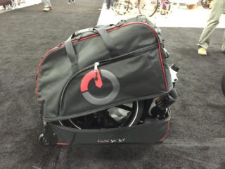 Gocycle G2 Stowed In Optional Travel Case