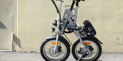 Green World Bike E Trolley Folded