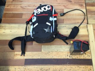 Kranked E Squared Backpack And Large 20 Ah Battery