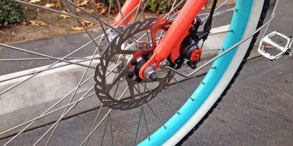 Pedego Step Thru Comfort Cruiser Front Disc Brake