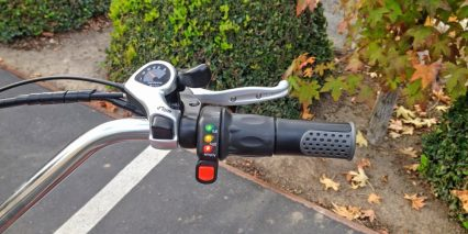 Pedego Step Thru Comfort Cruiser Twist Throttle
