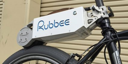 Rubbe Ebike Kit Side View With Roller
