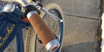 Vintage Electric E Tracker Brooks Leather Grips