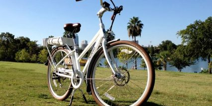 White Low Step Pedego City Commuter