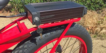 2015 Pedego Trail Tracker Locking Rack Style Battery