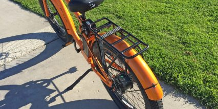 E Lux Tahoe Rack With Pannier Blockers And Bungee Cords