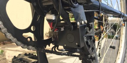 Add E 600w Motor Installed Carbon Fiber Mounts