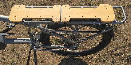 Felt Bruhaul Electric Cargo Bike Bamboo Racks