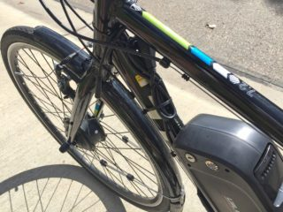 Dillenger Street Legal Ebike Kit Bundled Cables Zip Tied To Frame