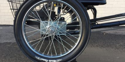 Worksman Cycles Pav3 Stretch Electric Trike Kenda Flame Tires