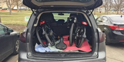 Magnum Premium Folding Ebike In Trunk Of Car