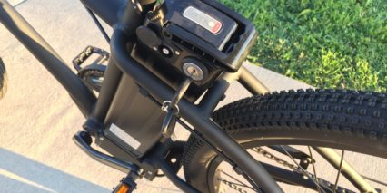2017 Motiv Spark Silver Fish Mid Mounted Ebike Battery