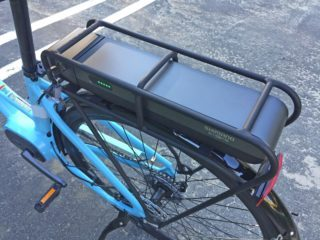 2017 Raleigh Detour Ie Removable Battery Pack In Rear Rack