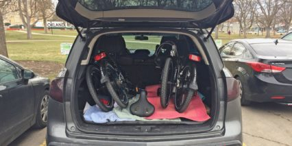 Magnum Classic Ebike Folded In Car Trunk
