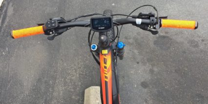 Giant Full E Plus 1 Custom Lcd Display Fluerescent Orange Grips