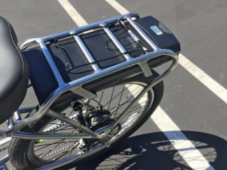 Pedego Platinum Interceptor Two 48 Volt Battery Options Rear Rack Mounted