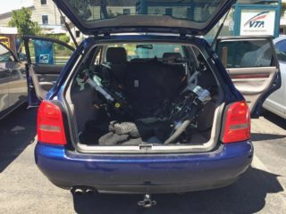 Velomini Plus Folded Fits Two In Trunk Of Car