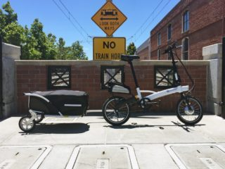 Velomini Plus With Trailer And Trunk Bag Reflective