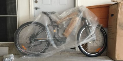Voltbike Enduro Shipping Bubble Wrap