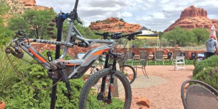 Cannondale Moterra 2 Bike In Stand For Maintenance
