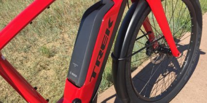 Trek Super Commuter Plus 8s Downtube Integrated Bosch Powerpack 500