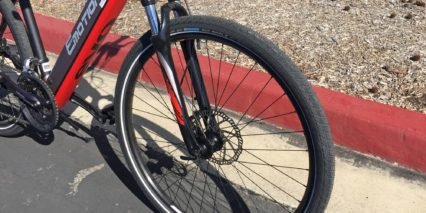 Easy Motion Evo Cross Plus Schwalbe Big Apple Tires With Reflection