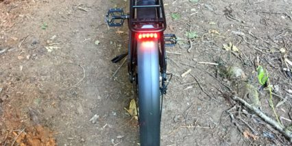 Ohm Sport Supernova M99 Led Tail Light On Racktime Rear Rack