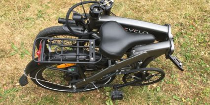 Evelo Quest One Electric Bike Folded
