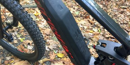 Moustache Samedi 27 Trail 8 Downtube Mounted Battery Cover On