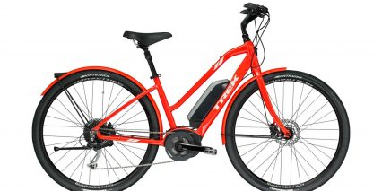 Trek Verve Plus Step Thru Coral Red Stock