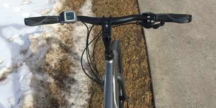 Trek Verve Plus Swept Back Handlebar Bosch Purion Display