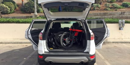 Xing Technologies Zycle Folded In Car Trunk