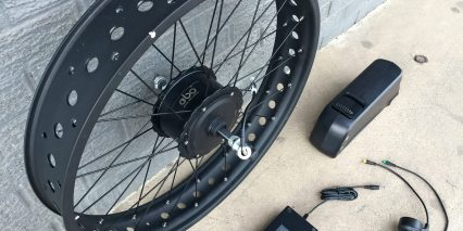 Electric Bike Outfitters Fat Tire Kit Motor Axle Closeup