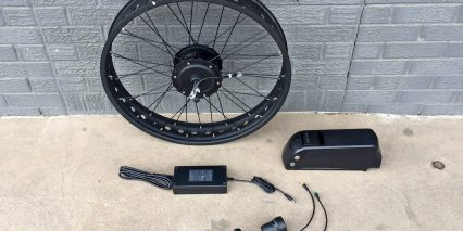 Electric Bike Outfitters Fat Tire Kit Rim Led Control Pad Twist Throttle