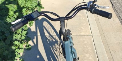 Pedego City Commuter Mid Drive Comfort Bars Padded Grips Thumb Shifter