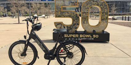 Velec R48m Electric Bike At Mile High Stadium In Denver